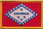 Arkansas Embroidered Flag Patch, style 08.